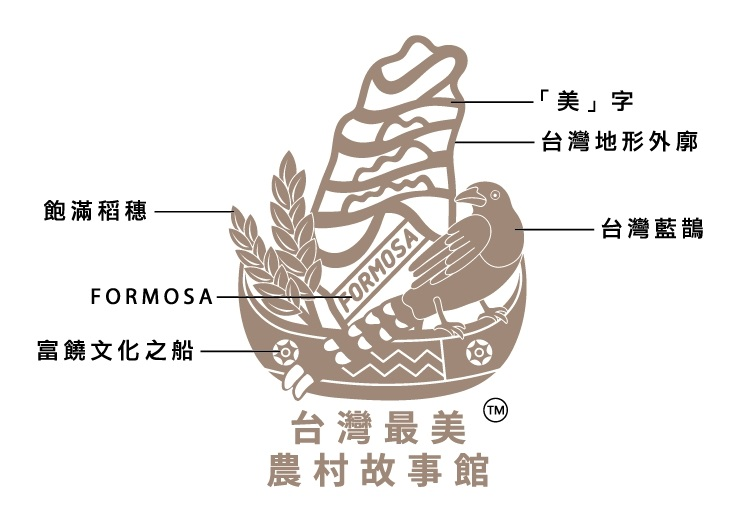 台灣最美農村故事館LOGO解說圖